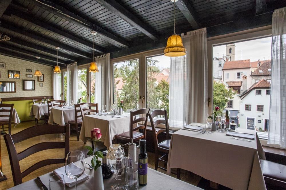O charmoso Restaurante Agava, em Zagreb