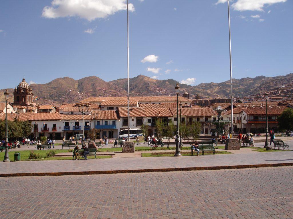 A Plaza de Armas, no centro de Cusco (Foto: Eliane Babosa)