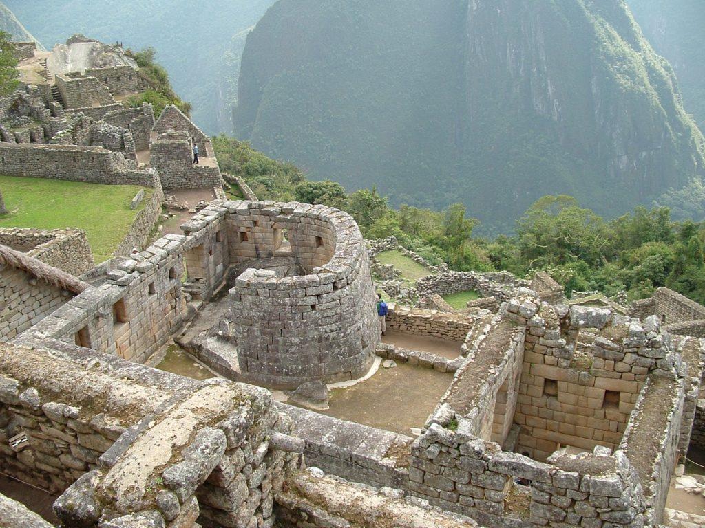 Templo do Sol: única construção circular de Machu Picchu (divulgação internet)