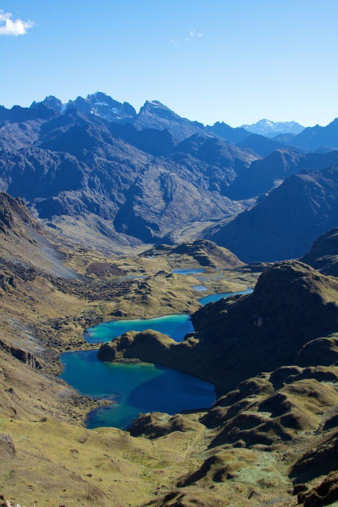 Os lagos azuis de Lares: ainda pouco explorado, o local permite contato com a tradição peruana (foto: divulgação internet)