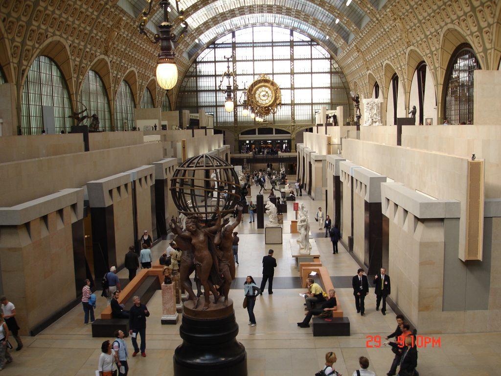 O emblemático relógio da antiga estação de trem, transformada no Museu D'Orsay DSC01431