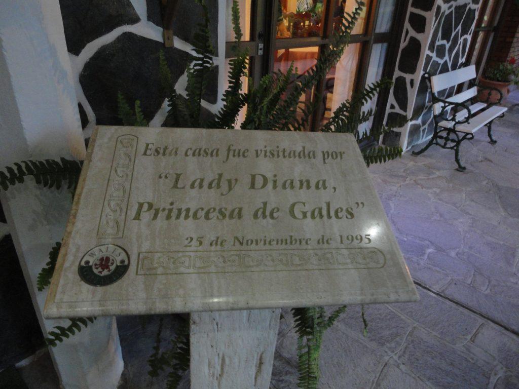 A princesa Diane visitou a cidade.