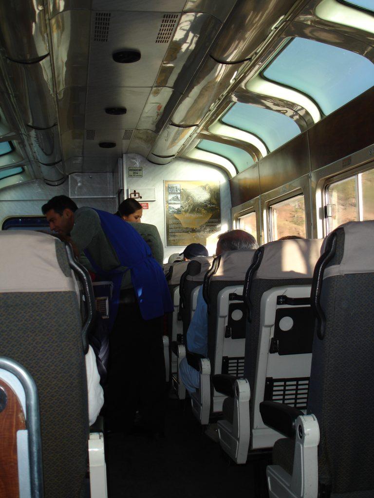 Interior do trem (Foto: Eliane Barbosa)