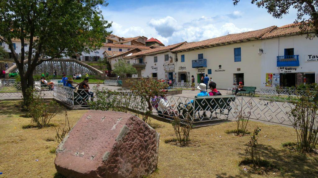 A pracinha de San Blas: ponto de encontro (divulgação internet)